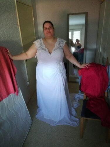Robe de Mariée Empire Femme Ronde photo review